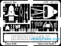 Photo-etched set 1/72 Hurricane II, for Revell kit