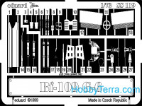 Photo-etched set 1/72 Bf-109G-6, for Italeri kit