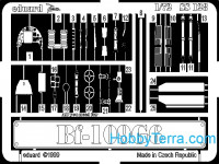 Photo-etched set 1/72 Bf-109G-6, for Academy kit
