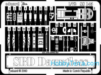 Photo-etched set 1/72 SBD Dauntless, for Hasegawa kit