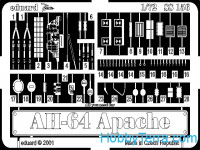 Photoetched set 1/72 AH-64 Apache