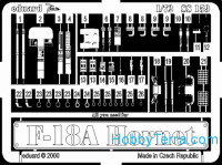 Photo-etched set 1/72 F-18A Hornet, for Italeri kit
