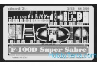 Photo-etched set 1/72 F-100D SuperSabre, for Italeri kit