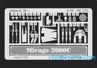 Photo-etched set 1/72 Mirage2000C, for Italeri kit