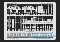 Photo-etched set 1/72 F-111D/F, for Hasegawa kit