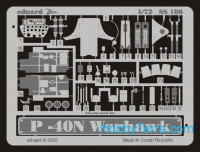 Photo-etched set 1/72 P-40N Warhawk, for Hasegawa kit