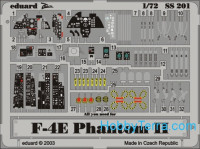 Photo-etched set 1/72 F-4E Phantom II Color, for Hasegawa kit
