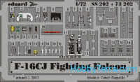 Photo-etched set 1/72 F-16CJ Color, for Hasegawa kit