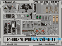 Photo-etched set 1/72 F-4B/N Phantom II Color, for Hasegawa kit