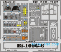 Photo-etched set 1/72 Bf-109G-6 Color, for Hasegawa kit