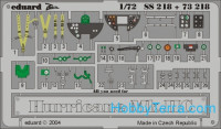 Photo-etched set 1/72 Hurricane Mk.IIc Color, for Revell kit