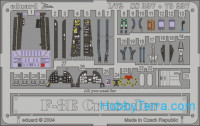 Photo-etched set 1/72 F-8E Crusader Color, for Academy kit