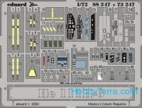 Photo-etched set 1/72 He 111H-6 Color, for Hasegawa kit