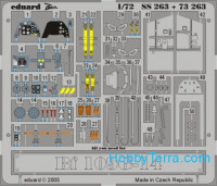Photo-etched set 1/72 Bf 109G-14 Color, for Academy kit