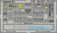 Photo-etched set 1/72 F-18C Hornet Color, for Hasegawa kit