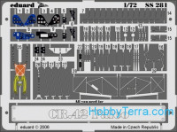 Photo-etched set 1/72 CR 42 Falco Color, for Italeri kit