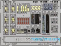 Photo-etched set 1/72 He 177 Greif Color, for Revell kit