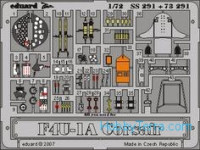 Photo-etched set 1/72 F4U-1A Corsair, for Tamiya kit