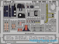 Photo-etched set 1/72 Me 262A Schwalbe Color, for Academy kit