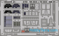 Photo-etched set 1/72 AH-1S Color, for HobbyBoss kit