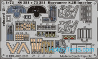 Photo-etched set 1/72 Buccaneer S.2B interior Color, for Airfix kit