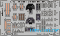 Photo-etched set 1/72 Bf 110C interior (self adhesive), for Airfix kit