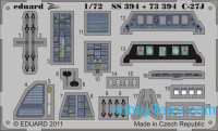 Photo-etched set 1/72 C-27J (self adhesive), for Italery kit