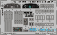 Photo-etched set 1/72 Bell 212 UH-1N Color, for Revell kit