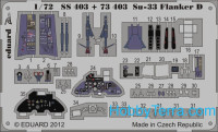 Photo-etched set 1/72 Sukhoi Su-33 Flanker D (self adhesive), for Hasegawa kit