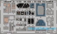 Photo-etched set 1/72 Swordfish Color, for Airfix kit