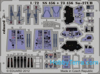 Photo-etched set 1/72 Su-27UB interior Color, for Trumpeter kit