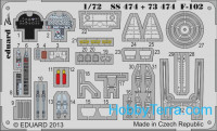 Photo-etched set 1/72 F-102 (self adhesive), for Meng kit