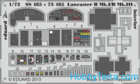 Photo-etched set 1/72 Lancaster B Mk.I/B Mk.III interior S.A