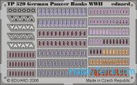 Photo-etched set 1/35 WWII German panzer ranks