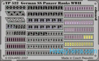 Photo-etched set 1/35 German SS panzer ranks WWII