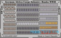 Photo-etched set 1/35 German Africa Corps Infantry ranks WWII