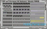 Photo-etched set 1/35 WWII German SS infantry ranks