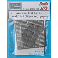 Photo-etched set 1/72 Grousers for T-34 tracks, mod. 1940