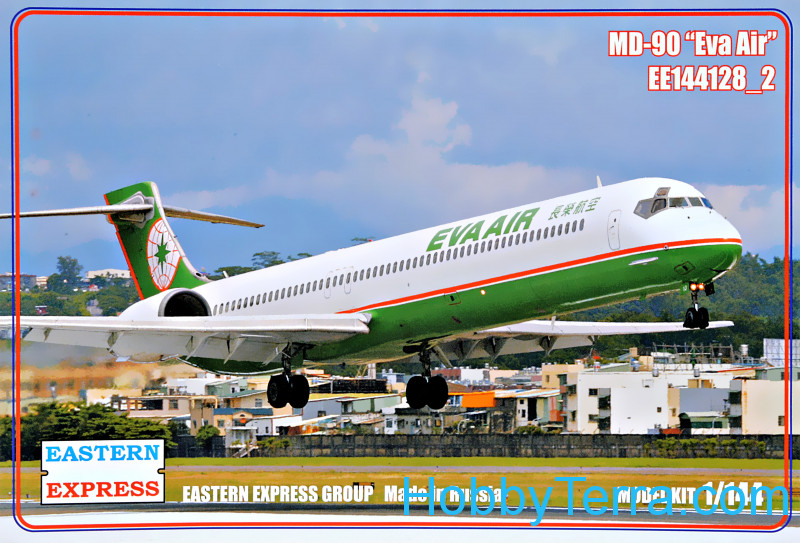 "Eastern Express  144128-02 Civil airliner MD-90 ""Eva Air"""