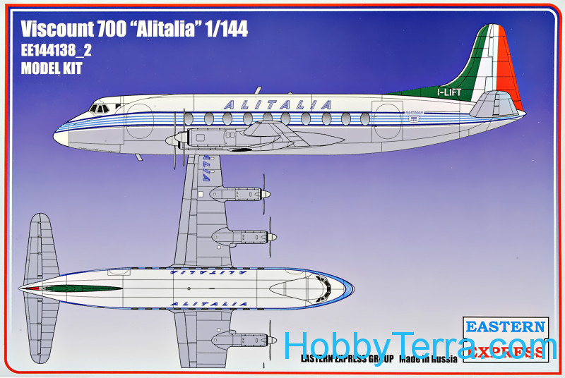 "Eastern Express  144138-02 Civil airliner Viscount 700 ""Alitalia"""