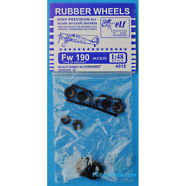 Rubber wheels for Fw 190 A,F,G,D, version B