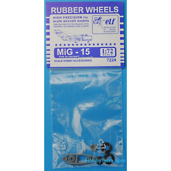 ELF  7224 Rubber wheels 1/72 for MiG-15