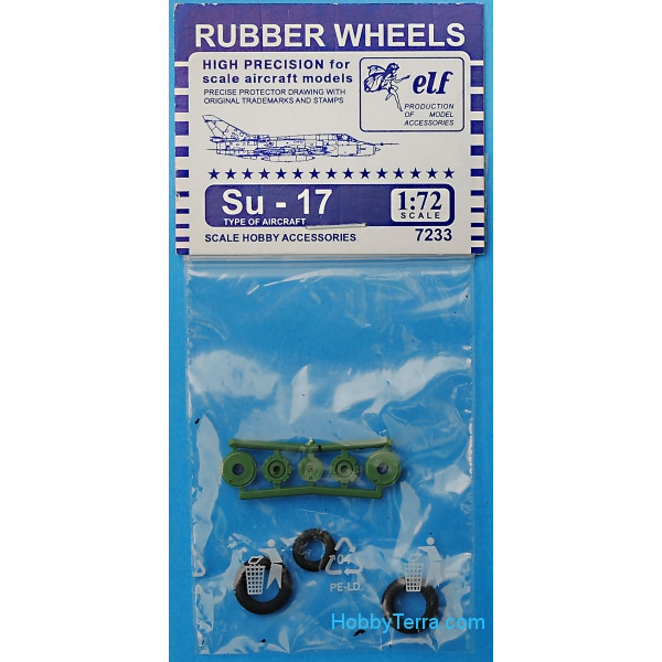 Rubber wheels 1/72 for Su-17