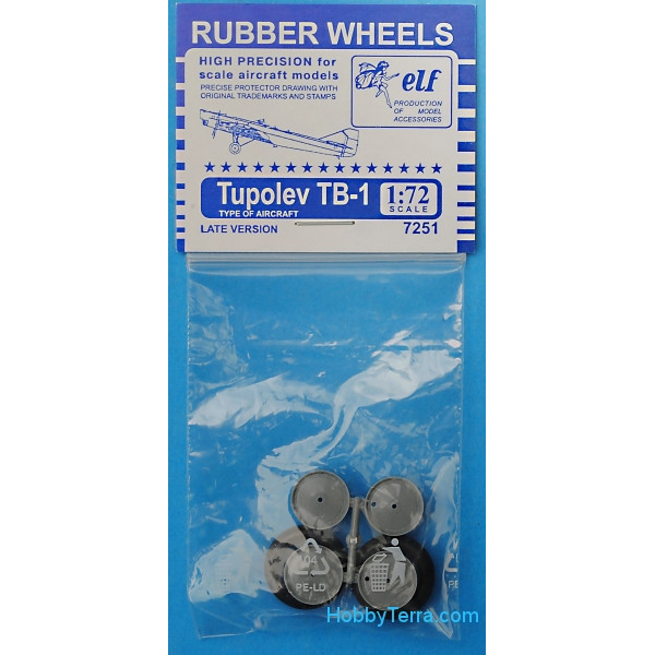 Rubber wheels for TB-1
