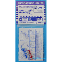Navigation lights: Blue, red, clear, 12x3 pcs.