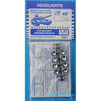 Headlights for military armored models, 16 pcs