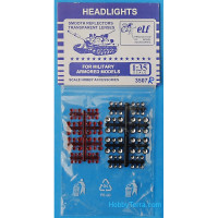 Headlights for military armored models, 48 pcs