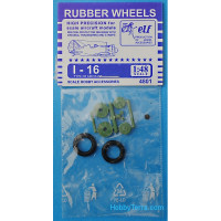 Rubber wheels 1/48 for I-16
