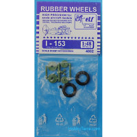 Rubber wheels 1/48 for I-153
