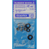 Rubber wheels 1/48 for P-39 Airacobra